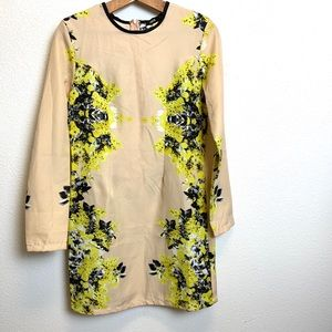 ASOS size 12 dress Cream with yellow/black pattern